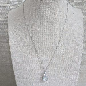 Swarovski Crystal Ice Blue Necklace